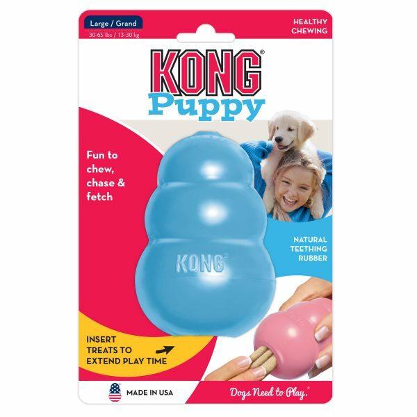 KONG Puppy L 10,1 cm Blauw of Roze