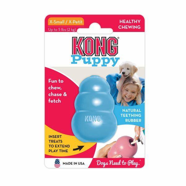 KONG Puppy XS 5,7 cm Blauw of Roze