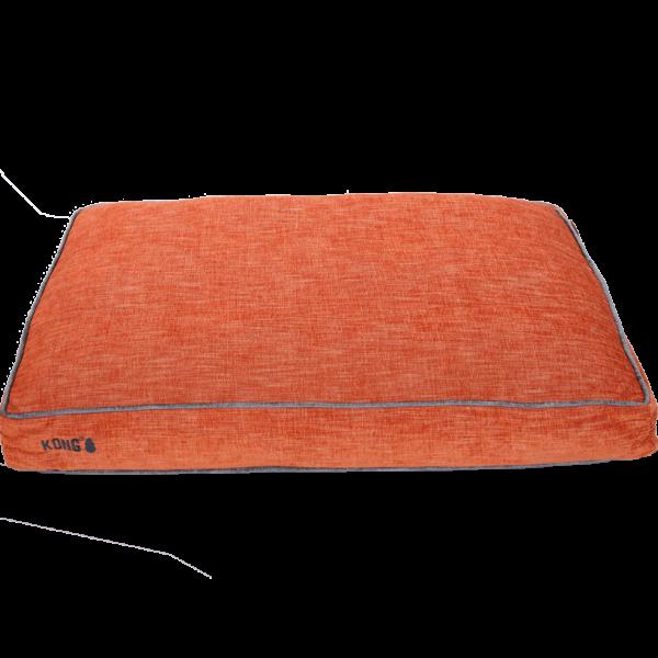 KONG Rectangle Beds Medium, Oranje met grijze lijn