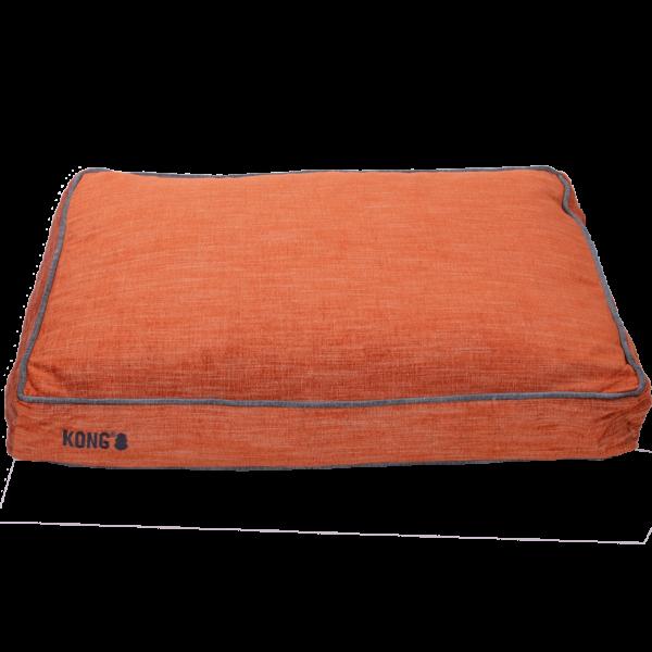 KONG Rectangle Beds Small, Oranje met grijze lijn
