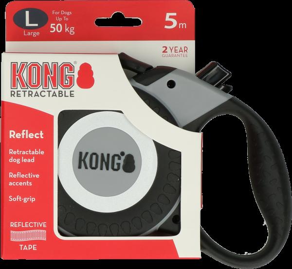 Kong Rollijn Reflect Grijs L (5m/50kg)