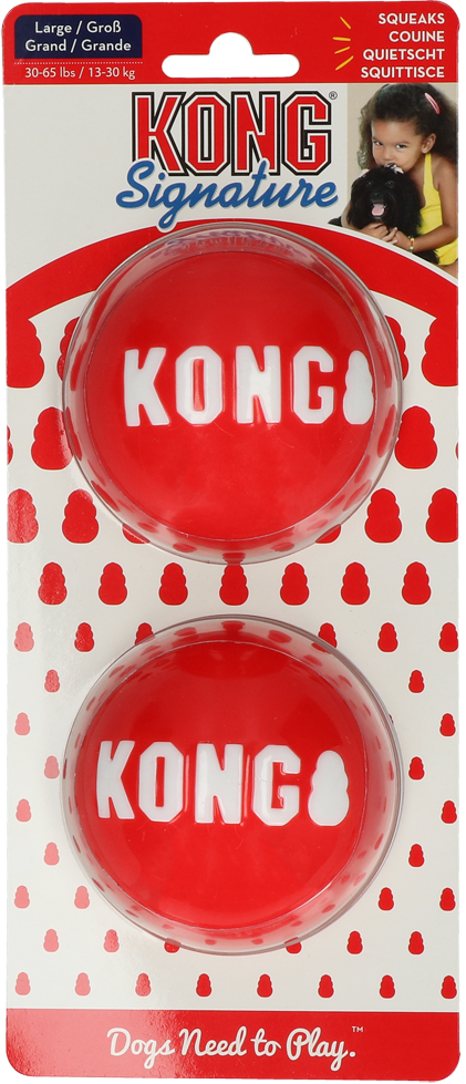 KONG Signature Balls 2-pk Lg