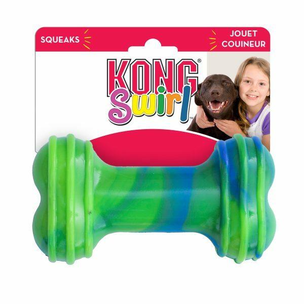 Kong Swirl Bone L 5,7 cm x 19 cm Multicolor