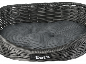 Let's Sleep Pet Bed L Dark Grey