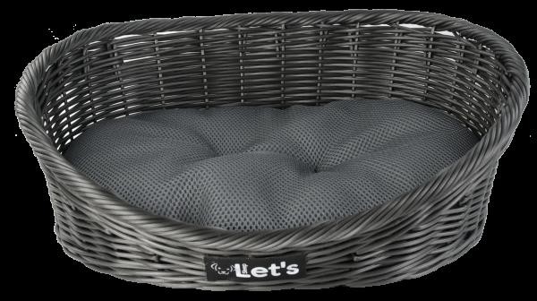Let's Sleep Pet Bed M Dark Grey