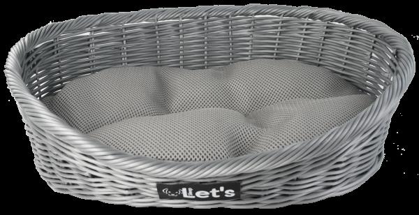 Let's Sleep Pet Bed M Grey