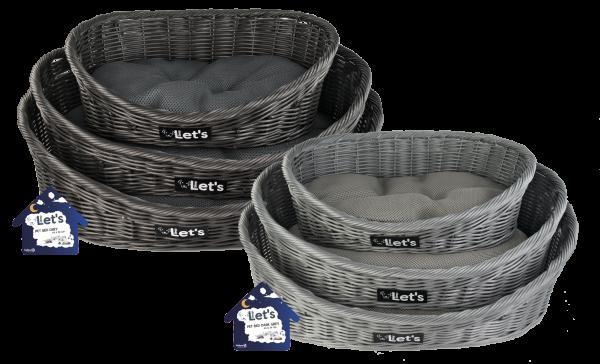 Let's Sleep Pet Bed S Grey