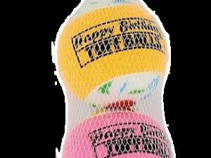 Tuff Birthday Balls 6 cmTurbo 3-pk