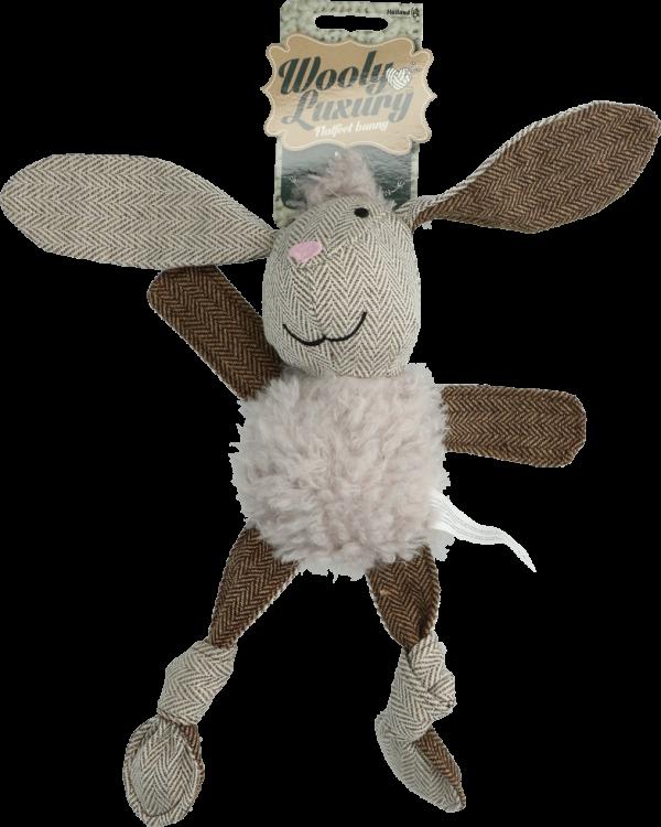 Wooly Luxury Flatfeet Konijn Grijs