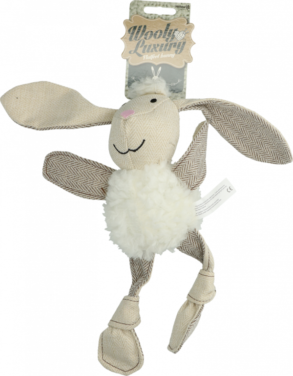 Wooly Luxury Flatfeet Konijn Wit