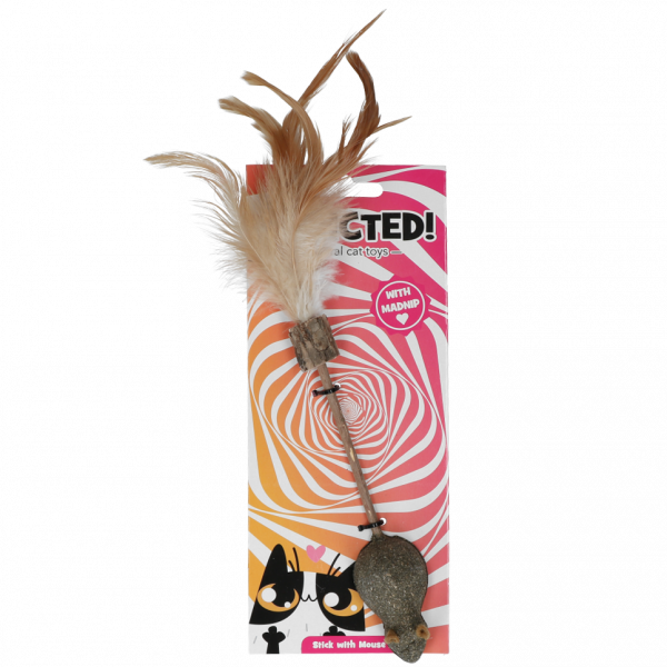Addicted Stick with mouse and feathers