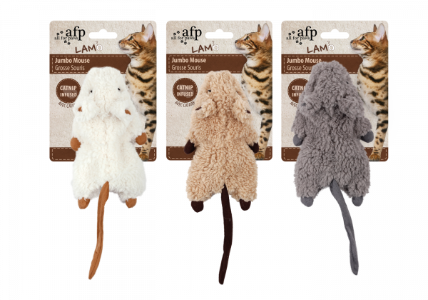 AFP Lambswool-Jumbo Crinkle Catnip Rodent