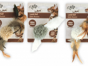 AFP Lambswool-Lamb Ball with bird sound Catnip