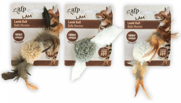 AFP Lambswool-Lamb Ball with bird sound Catnip