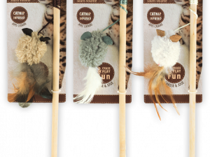 AFP Lambswool-Wand+Mouse with Feather Catnip