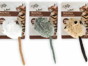 AFP Lambswool-Wooly Mouse with mouse sound Catnip