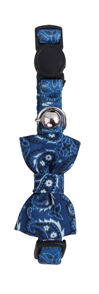 Cat collar w/Bowknot blauw