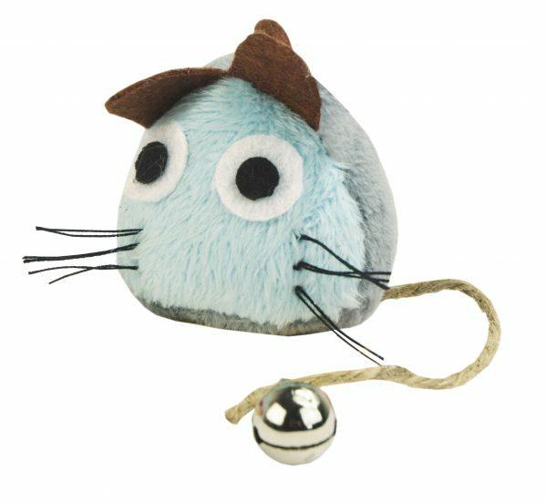 Crazy Cat Funny Mouse licht blauw vol met Madnip