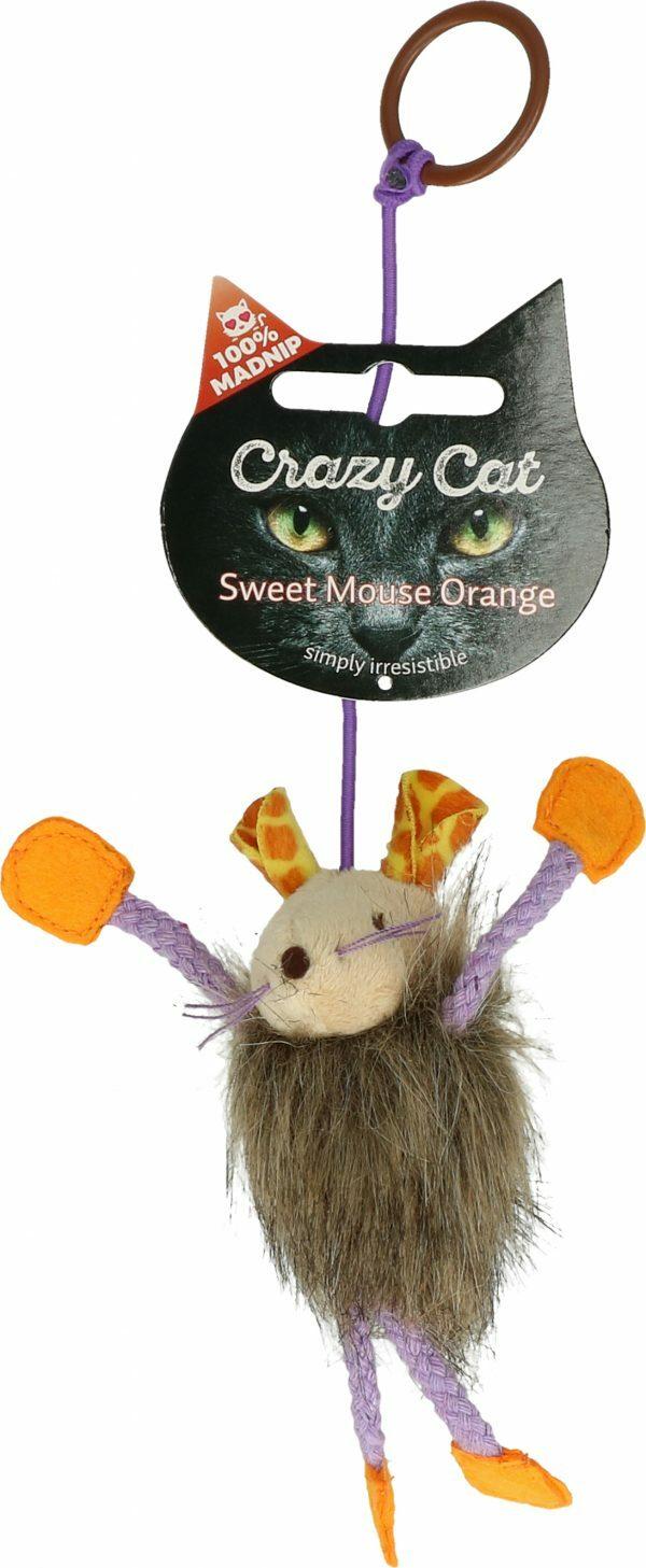 Crazy Cat Sweet Mouse Orange met 100% Madnip