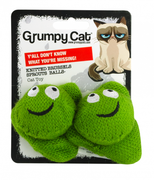 Grumpy Cat Knitted Brussels Sprouts Balls 2-pack