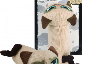 Grumpy Cat Toilet Paper Roll Knitted Cozy