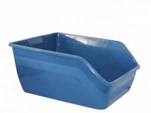 High-back Litter pan 47x38x21cm