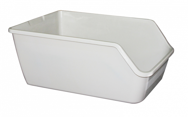 High-back Litter pan 61x45x25cm