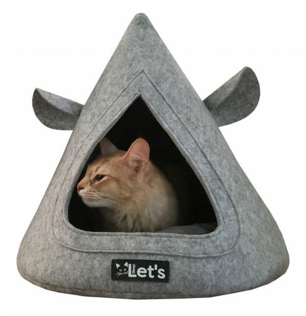 Let's sleep Pet Cave TeePee Grijs