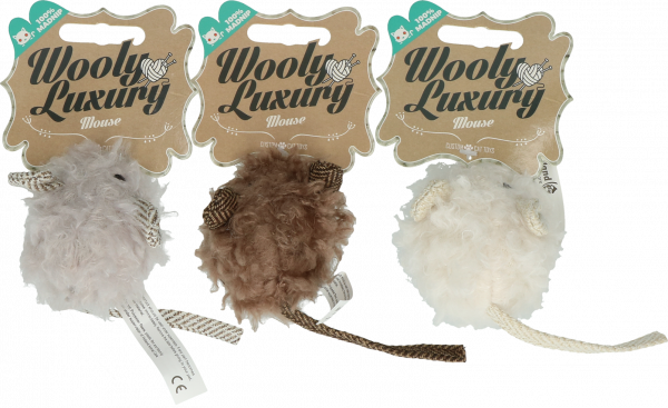 Wooly Luxury Muis Wit