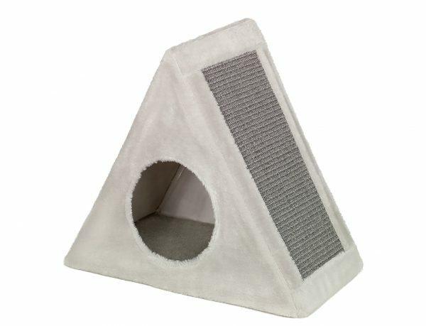 Krabhuis driehoekig Tri grijs 45x25x48cm