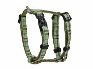 Harnas nylon Schotse Ruit groen 20-35cmx10mm XS