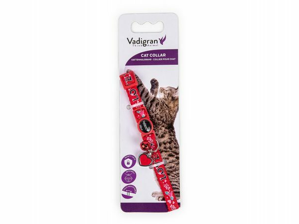 Halsband kat Charm rood 20-30cmx10mm