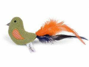 Speelgoed kat Fancy Vogel groen 18cm