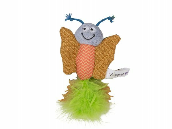 Speelgoed kat Fancy Vlinder oranje 12cm