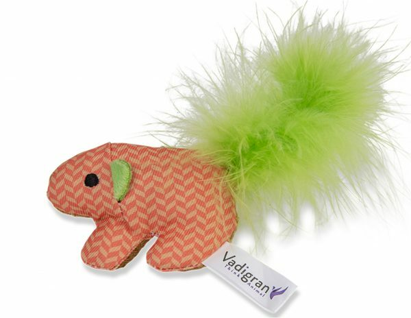 Speelgoed kat Fancy oranje 12cm