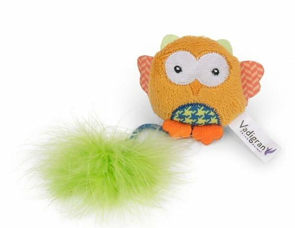 Speelgoed kat Fancy Uil oranje 12cm