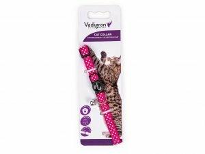 Halsband kat Stippen roze 20-30cmx10mm