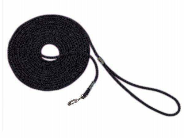 Zoeklijn nylon rond zwart 10mx6mm