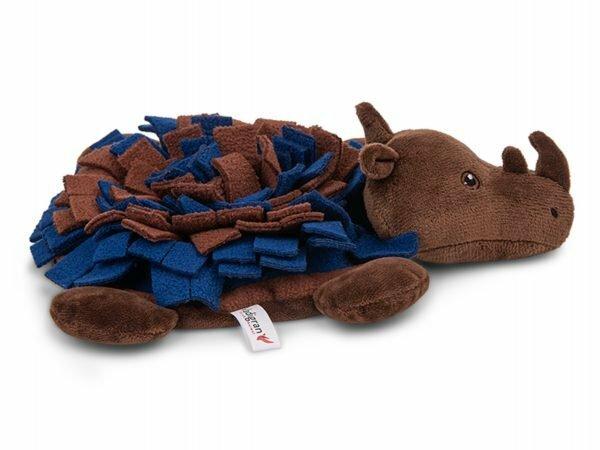 Speelgoed hond Snuffelplush Neushoorn 27cm