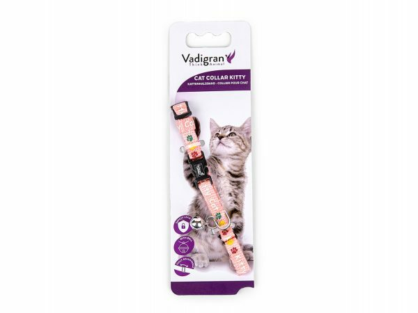 Halsband kat Kitty Cat roze 20-27cmx8mm