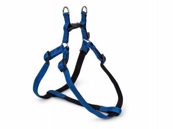 Harnas nylon Soft Grip blauw 40-56cmx15mm S