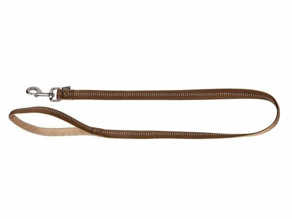 Leiband nylon Soft Grip bruin 120cmx25mm XL