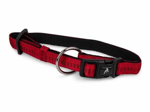 Halsband nylon Soft Grip rood 25-35cmx15mm S-M