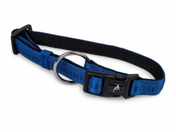 Halsband nylon Soft Grip blauw 50-65cmx25mm XL