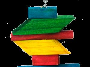 Birrdeeez Parakeet Toy Wood Zig Zag