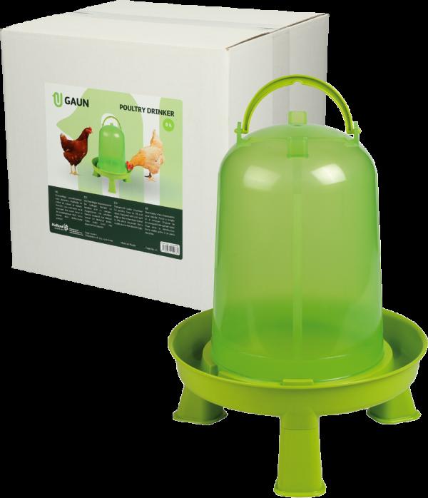 Pluimvee drinktoren 5 l green lemon op pootjes