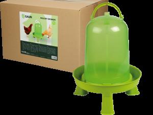 Pluimvee drinktoren 8 l green lemon op pootjes