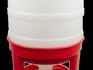 Pluimvee voertoren 40 liter rood hopper op pootjes