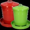 Pluimvee voertoren metaal 6 kg rood
