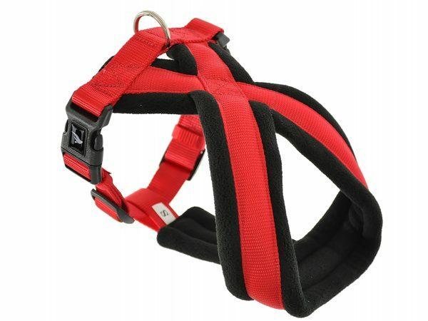 Harnas Comfort Nylon rood 80cm XL